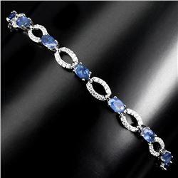 Natural Blue Sapphire Bracelet