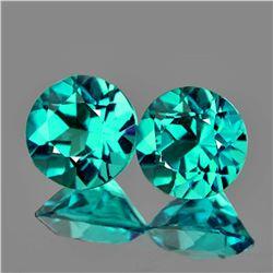 Natural Paraiba Green Blue Apatite Pair 4.70  MM {VVS}