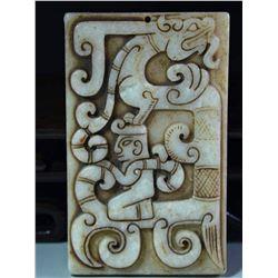 Antique Natural Jade Hand Carved Plate