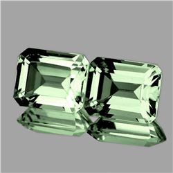 Natural Green Amethyst Pair 10x8 MM - FL