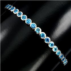 Natural Rare Brazil Blue Apatite Bangle
