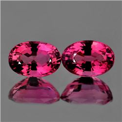 Natural Pink Tourmaline Pair 6x4 MM - VVS
