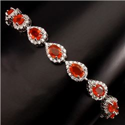 Natural op Rich Orange Fire Opal Bracelet