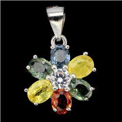 Natural Fancy Sapphire Pendant