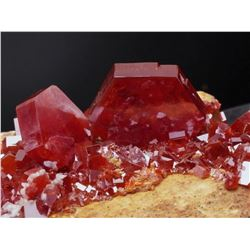 Natural VANADINITE - lustrous Crystals on Matrix