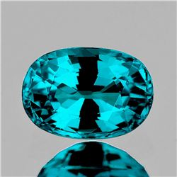 Natural Premium Electric Blue Zircon 4.90 Ct -Certified
