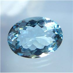 Natural Sky Blue Aquamarine 7.29 Cts {Flawless-VVS1)