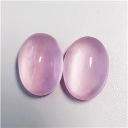 Natural Pastel Pink Rose Quartz Pair 34.60 CT Flawless