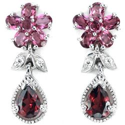 GORGEOUS GENUINE PURPLISH PINK RHODOLITE Earrings
