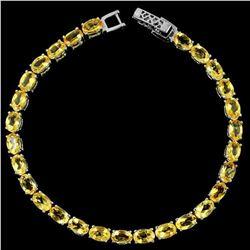 NATURAL ORANGISH YELLOW CITRINE Bracelet