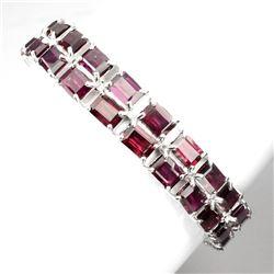 Natural Pink Raspberry Rhodolite Garnet 167 CT Bracelet