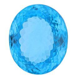 Amazing 37.45 ct Swiss Blue Certified Topaz. V VS-1