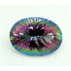 BRILLIANT CERTIFIED 16.18 CT MYSTIC TOPAZ.