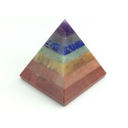 BEAUTIFUL 461.5 CT 7 MULTI GEM CHAKRA  PYRAMID