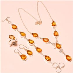 BRILLIANT 4 PIECE YELLOW SAPPHIRE JEWELRY SET