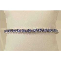NATURAL 10 CT GEM WT TANZANITE TENNIS BRACELET