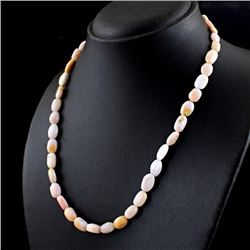 Certified Pink Australian Opal  Necklace