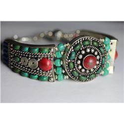 Tibet Hand Made Turquoise & Lapiz Lazuli  Bracelet
