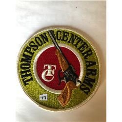 """RARE LARGE Vintage Outdoors """"THOMPSON CENTER ARMS"""" Patch in Like New Condition"""