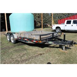 2007 DOUBLE A 20' FLAT DECK TRAILER
