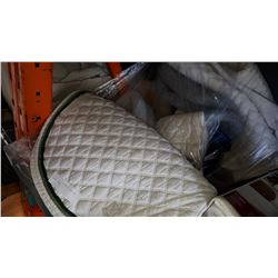 LOT OF ENGLISH SADDLE PADS AND HORSE ITEMS