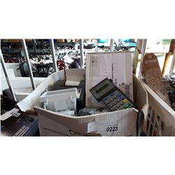BOX OF POS SYSTEM, LIGHTS AND MORE