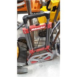 RED & GREY MILWAUKEE FOLDING DOLLY 150LBS LIMIT