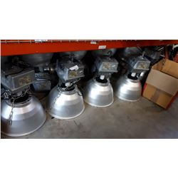 15 WAREHOUSE INDUSTRIAL LIGHTS WITH BULBS