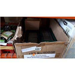 12 GREEN WOOD AND GLASS DISPLAY BOX