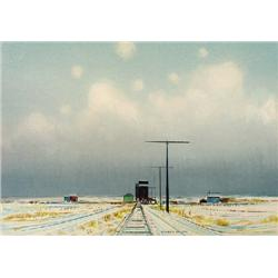 UNTITLED; TRACKS IN WINTER