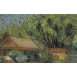 UNTITLED; BUILDINGS AMONGST THE TREES