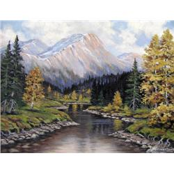 UNTITLED; RIVER IN THE MOUNTAINS