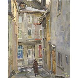 UNTITLED; WALKING THE NARROW STREETS