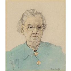 UNTITLED; PORTRAIT OF AN ELDERLY LADY