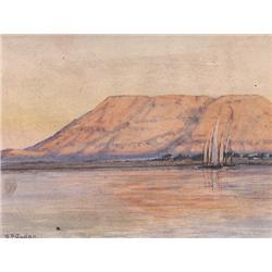 UNTITLED; SAILBOATS ON THE LAKE