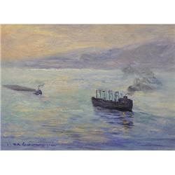 UNTITLED; SHIPS IN THE MIST
