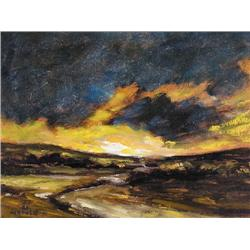 UNTITLED; TURBULENT SKIES; 1971    UNTITLED; RIVER IN AUTUMN