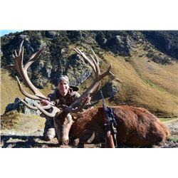 5 Day New Zealand Red Stag hunt for 1 Hunter and 1 Observer