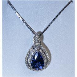 Tanzanite and Diamond Pendant