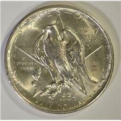 1934 TEXAS COMMEM HALF DOLLAR, GEM BU