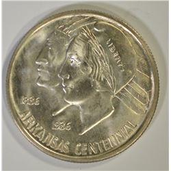 1935-D ARKANSAS COMMEM HALF DOLLAR, GEM BU