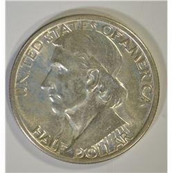1934 BOONE COMMEM HALF DOLLAR, GEM BU