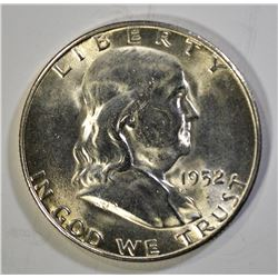 1952-S FRANKLIN HALF DOLLAR, GEM BU