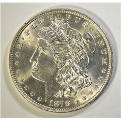 1878 7TF MORGAN DOLLAR, GEM BU
