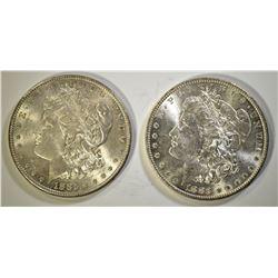 1883-O & 1885 CH BU MORGAN DOLLARS