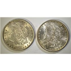 1884 & 1888-O CH BU MORGAN DOLLARS