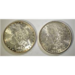 1887 & 1898 CH BU MORGAN DOLLARS