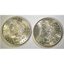 1882 & 1883-O CH BU MORGAN DOLLARS