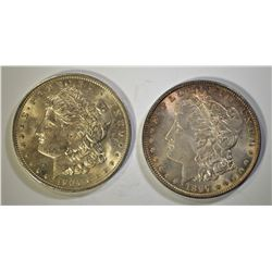 1897 & 1904-O CH BU MORGAN DOLLARS