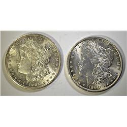 1900-O & 1904-O CH BU MORGAN DOLLARS
